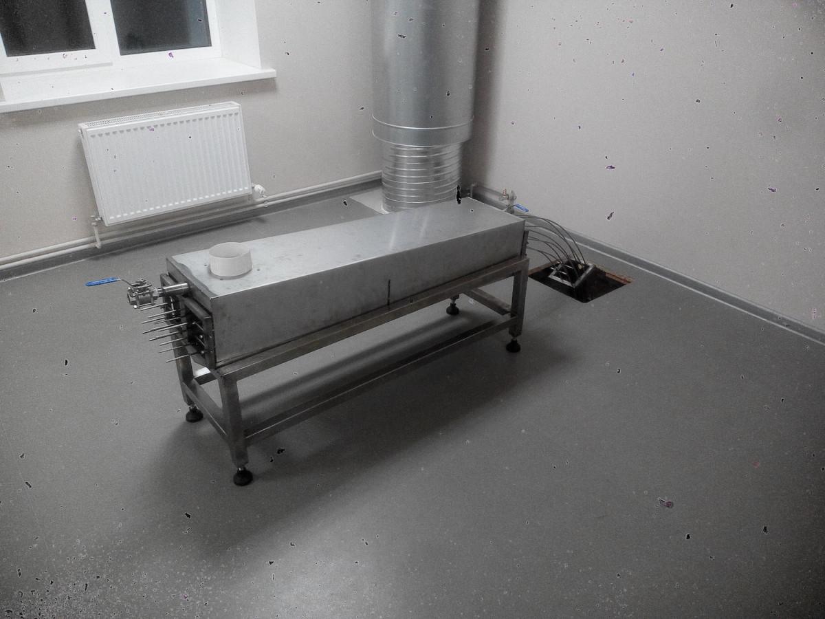 Konservu kārbu tvaicēanas iekārta 1